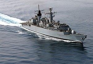 HMS Cornwall (F99) - Image: HMS Cornwall F99