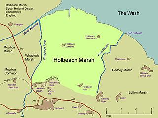 Holbeach Marsh Fenland area in Lincolnshire, England