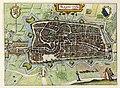 HUA-214016-Plattegrond van de stad Utrecht met directe omgeving; met stratenplan wegen en watergangen en gestileerde weergave van de bebouwing en het grondgebrui.jpg