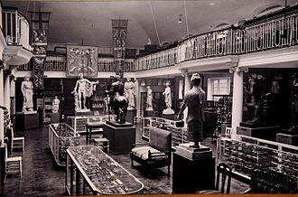 Wellcome Collection - Hall of Statuary, Wellcome Historical Medical Museum, Wigmore Street, London, c. 1926. Unknown photographer. The Wellcome Collection, London