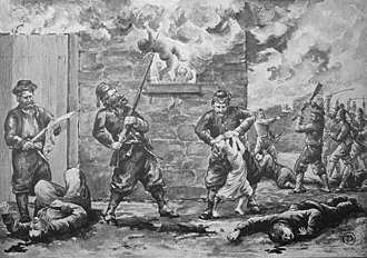 Hamidian massacres - Sketch by an eye-witness of the massacre of Armenians during the Hamidian massacres