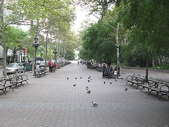 47th Street (Manhattan) - Dag Hammarskjold Plaza, located at the east end of 47th Street