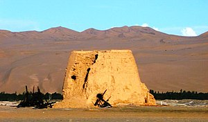 Watchtower - Han dynasty watchtower near Dunhuang, China