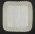 Handkerchief, embroidered initials, 'H.S.'---in button- hole embroidery. Made in Germany or Switzerland, 19th century. LACMA 60.41.105 (1 of 2).jpg