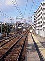 Hankyu Imazu Line Obayashi Station towards Sakasegawa Station 2016-02-09 (24928859536).jpg