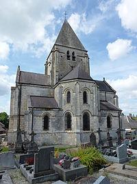 Hannappes (Ardennes) Église Saint-Jean-Baptiste, chevet.JPG