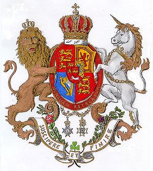 History of Hanover (region) - Coat of arms of the monarchs of Hanover.