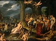 Ο γάμος του Πηλέα με την Θέτις, έργο του Hans Rottenhammer.