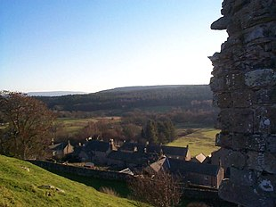 View of the village from Harbottle Castle