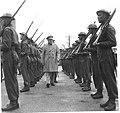 Hari Singh Maharaja of Jammu and Kashmir Inspecting British Soldiers in Dover During World War II.jpg