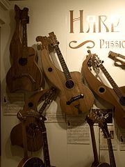 Harp guitars at the Museum of Making Music.