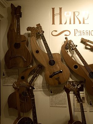Harp guitar - Image: Harp Guitars, Museum of Making Music