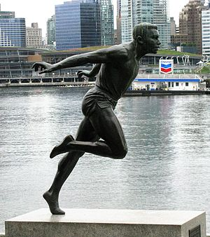 Harry Jerome (sculpture) - The statue in 2014