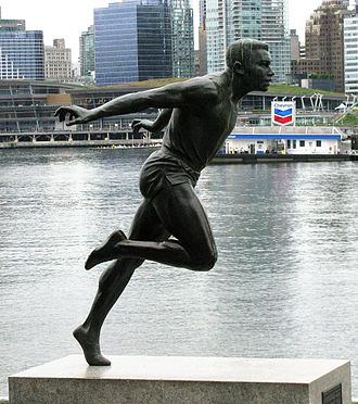 Harry Jerome - Statue of Harry Jerome in Stanley Park, Vancouver, Canada