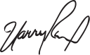 Harry Reid's signature