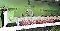 Harsh Vardhan addressing at the inauguration of the 6th World Ayurveda Congress, at Pragati Maidan, in New Delhi on November 07, 2014. The Speaker, Lok Sabha, Smt. Sumitra Mahajan is also seen.jpg