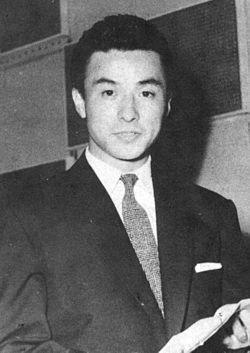 Hashizō Ōkawa II at recording studio cropped.jpg