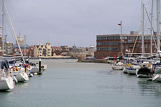 Haslar Marina - Haslar Marina, view towards Fort Blockhouse and The Point.