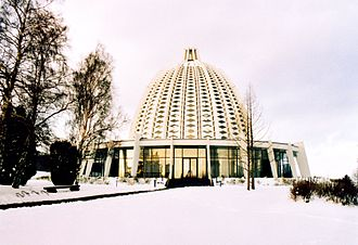 Bahá'í Faith in Germany - The Bahá'í House of Worship during snow.