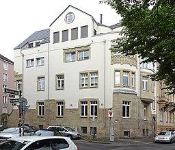 Haus Reichsstraße 45 an der Ecke zur Florastraße, Düsseldorf-Unterbilk