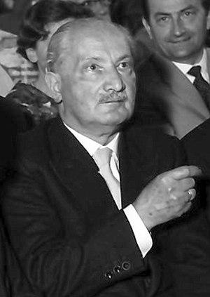 Martin Heidegger and Nazism - Martin Heidegger circa 1960