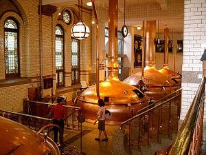 Heineken International - Interior of the former Heineken brewery in Amsterdam, which is now the museum Heineken Experience