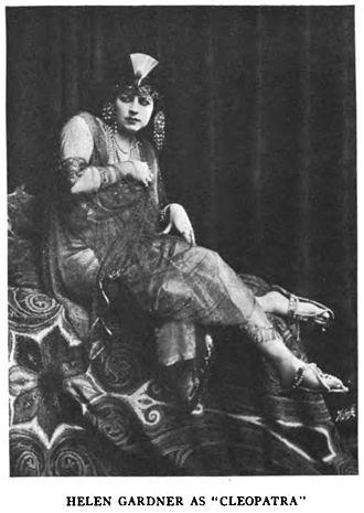 Cleopatra (1912 film) - Image: Helen Gardner as Cleopatra