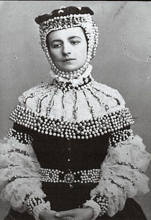 Helena Modjeska - Modrzejewska as Barbara Radziwiłłówna, 1865