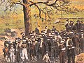 Helena Montana on 30 April 1870 ponderosa pine detail, Lynching of Compton and Wilson (cropped).jpg