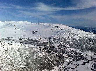 Hemsedal - Aerial view of Hemsedal in winter