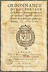 Henri IV - Ordonnance du roi - Interdiction du port des petits pistolets - 1609-09-12.jpg