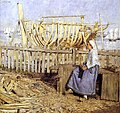 Henry Herbert La Thangue - Boat Builder's Yard 1881.jpg