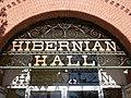 Hibernian Hall sign - Davenport, Iowa.jpg