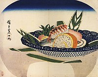 Sushi by Hiroshige in Edo period