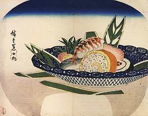 Japanese rice - Sushi by Hiroshige in Edo period