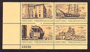 Melbourne Brindle - 1971 Historic Preservation postage stamps