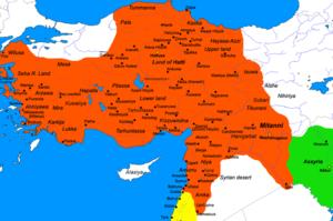 Palistin - Image: Hittite Kingdomsec XIV