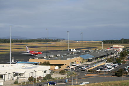 Hobart International Airport. HobartAirportTerminal.jpg
