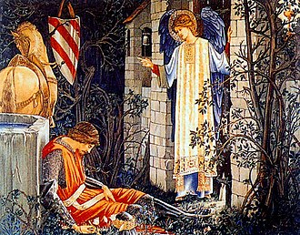 Holy Grail tapestries - Image: Holy Grail tapestry The Failure of Sir Launcelot