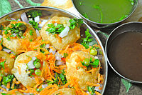 A dish of Panipuri