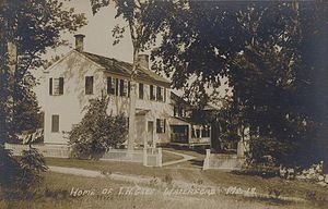 Waterford, Maine - Home of Thomas Hovey Gage c. 1915, town historian