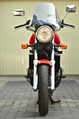 Honda NTV650 Motorcycle (1993) Front View + Windshield (14584913927).png