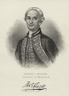 Horatio Sharpe Colonial Governor of Maryland