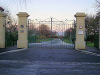 Opening gates of Horden Colliery Welfare park.