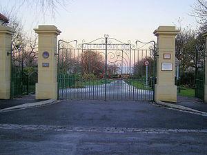 Horden - Opening gates of Horden Colliery Welfare park.