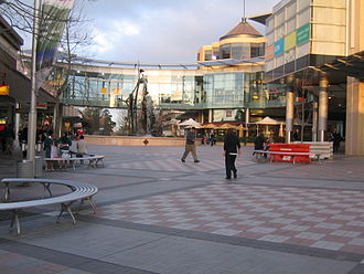Westfield Hornsby - Image: Hornsby mall with fountain