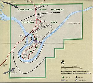 Battle of Horseshoe Bend (1814) - Battle positions