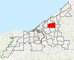 Location in the city of Cleveland