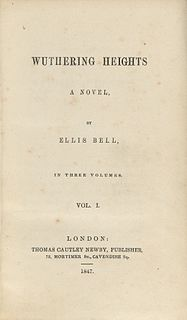 <i>Wuthering Heights</i> 1847 novel by Emily Brontë
