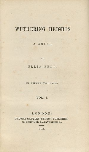 Wuthering Heights - Title page of the first edition